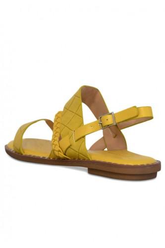 Sandales multibrides irisées, talon plat