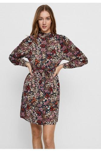 Robe courte à imprimé floral