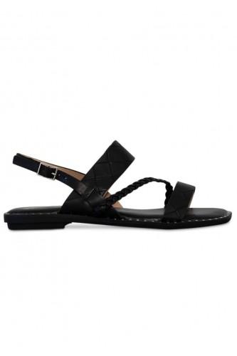 Sandales multibrides, talon plat