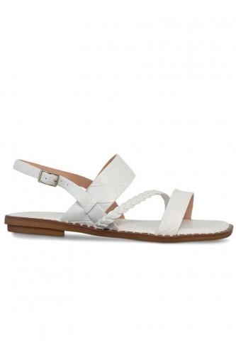 Sandales multibrides, talon...