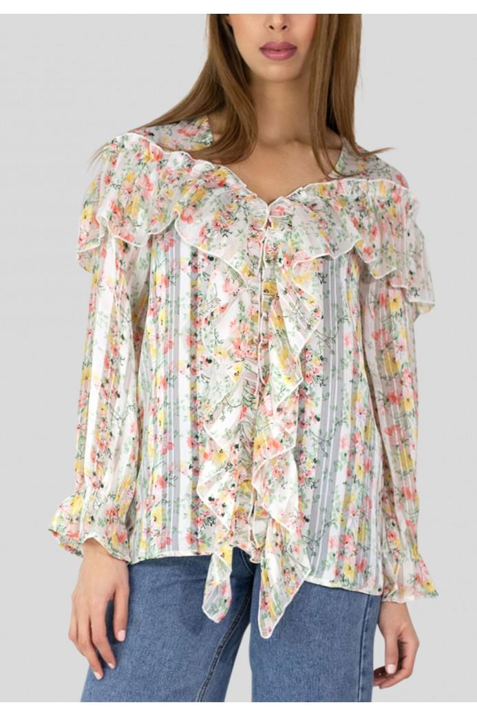 blouse imprimé floral