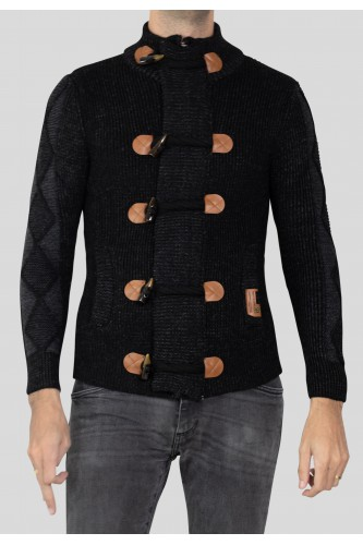 Gilet manches longues col rond